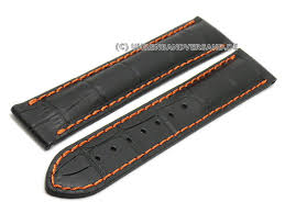 watch strap gk lb08 20mm black leather