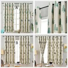 2020 Jarl Home Christmas Curtains For Living Room Elk Pine Printed Blackout Curtain For Kids Bedroom 100 200cm Elegant Grommet Darkening Window From Jarlhome 13 67 Dhgate Com