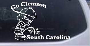 Go Clemson Car Or Truck Window Decal Sticker Rad Dezigns