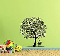 Amazon Com Books Tree Wall Decal Book Wall Decor Classroom Wall Decal Library Wall Decal Teacher Gift Education Vinyl Sticker Library Print Science Wall Art Kids School Wall Decor Book Poster 932