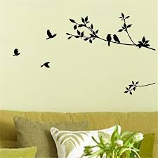 1 X Birds Flying Black Tree Branches Wall Sticker Vinyl Art Decal Mural Home Decor Wall Stickers Murals Olivia Decor Decor For Your Home And Office