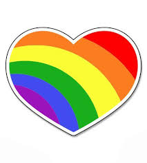 Gay Pride Heart Vinyl Sticker Waterproof Decal Sticker 5 Walmart Com Walmart Com