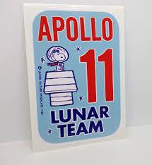 Snoopy Apollo 11 Lunar Team Vinyl Decal Vintage Style Sticker Space 1960 S Nasa Ebay