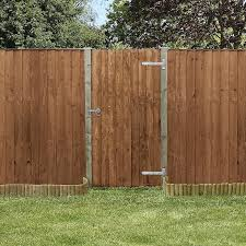 3 X 6 Pressure Treated Feather Edge Wooden Garden Gate Waltons