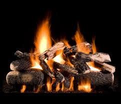 wood burning fireplace into a gas