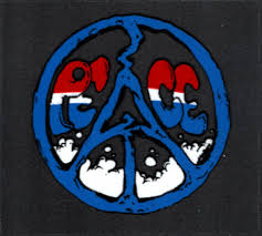 Grateful Dead Car Window Tour Sticker Decal Patriotic Red White And Blue Peace Sign