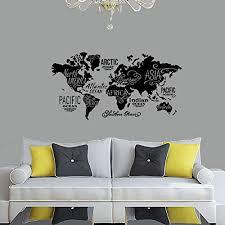 Amazon Com World Map Wall Decal Vinyl Wall Sticker Decals Home Decor Art Cool Wall Decals Stick On Wall Handmade