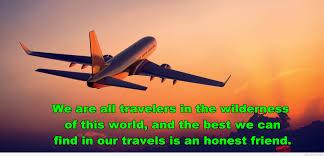 sunset plane travel quote