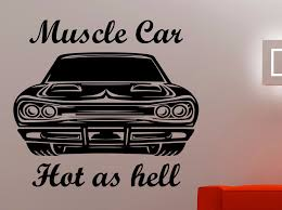 Muscle Car Wall Decal Racing Stickers Removable Vinyl Stickers For Living Room Home Decoration Boys Room Wall Art Murals A774 Stickers For Sticker For Living Roomvinyl Stickers Aliexpress