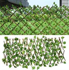 Expanding Trellis Fence With Artificial Green Leaf Retractable Garden Plant Fence Uv Protected Privacy Screen For Outdoor Indoor Use Garden Fence Backyard Home Decor Greenery Walls 70 Cm Amazon Co Uk Kitchen Home