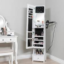 led mirror jewelry armoire makeup