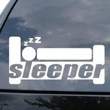 Sleeper Funny Jdm Car Window Decal Stickers Custom Sticker Shop