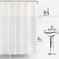 york harbour stripe shower curtain