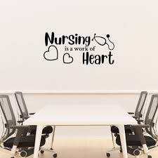 Nursing Is A Work Of Heart Decal Nurses Wall Decal Medical Wall Art Quote Nurse Appreciation Gift Vinyl Wall Lettering Vinyl Wall Decals Walmart Com Walmart Com