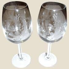 pair vintage large wedding wine goblets