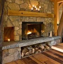stone fireplace wood storage mantels