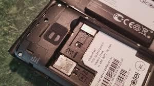 microsd card in the alcatel go flip