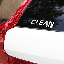 Clean Cause Logo Window Decal Clean Cause