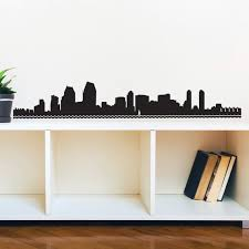San Diego Skyline Silhouette Wall Decal Custom Vinyl Art Etsy