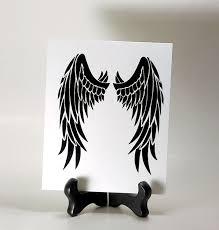 Angel Wings Vinyl Decal Angel Wings Sticker Angel Wings Car Window Decal Vinyl Decals Angel Wings Wall Art Angel Wings Wall