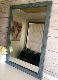 mirror wooden mirror rustic wall mirror