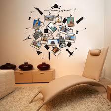Creative Kids Travel Memory Room Decor Children Hollow Building Album Wall Stickers Alexnld Com
