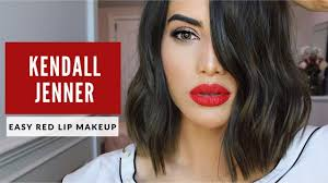 kendall jenner clic red lip makeup