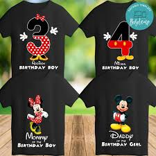 Imprimible Mickey Mouse Camiseta Familia Plantilla Descarga