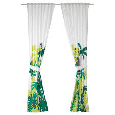 Djungelskog Curtains With Tie Backs 1 Pair Monkey Green 47x98 Ikea