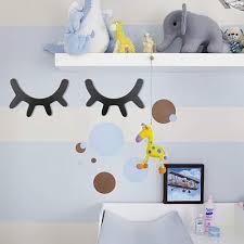 Funkeet 2 Pairs 3d Sleepy Eyelash Wall Decor Stickers Wooden Wall Sti Sugar Plum Avenue Llc