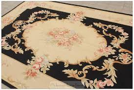 black ivory 5x8 aubusson area rug
