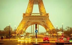 تحميل خلفيات برج إيفل الشارع باريس فرنسا السيارة أضواء