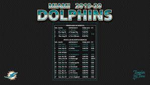 2019 2020 miami dolphins wallpaper schedule