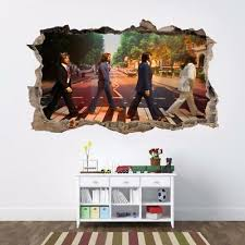 The Beatles Abbey Road Full Colour Printed Vinyl Wall Art Sticker Decal A4 1 7m 4 49 Picclick Uk