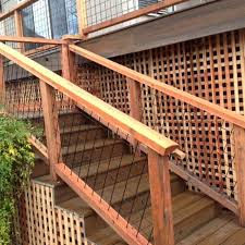 Welded Mesh Stair Fence Rail Panels By Wild Hog Railing Outdoor Stair Railing Building A Deck Diy Deck