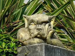 antique cast stone garden decoration
