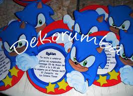 Dekorumba Tarjetas De Invitaciones De Sonic