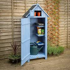 christow slim garden shed wood outdoor