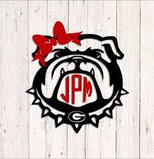Georgia Bulldogs Monogram Decal Custom Uga Decal Ga Dawgs Etsy