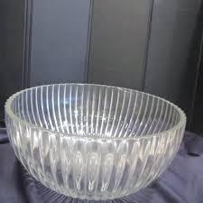 large sun flower clear glass serving
