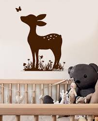 Newest Arrivals Wall Decal Nontoxic Pvc Fawn Deer Animal Baby Nursery Wall Decals Cute Kids Room Sticker Custom Color Wall Wall Decor Decals Wall Decor Sticker From Joystickers 11 67 Dhgate Com