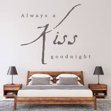 Kiss Goodnight Love Quote Wall Sticker Ws 15617 Ebay