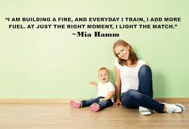 I Am Building A Fire Everyday I Train I Add More Fuel At Just The Right Moment I Light The Match Mia Hamm Sport Quote Lettering Custom Wall Decal Vinyl Sticker 10