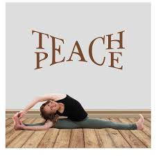 Teach Peace Vinyl Wall Quote Decal Sticker Forever Sky Studio