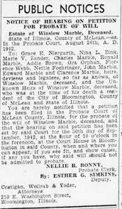 Addie Brown listed as heir of Winslow Marble - Newspapers.com