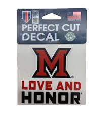Miami University Love And Honor Decal Dubois Book Store Oxford Oh