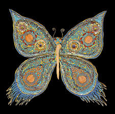 butterfly in mixed natural materials, seem more on https://www ...