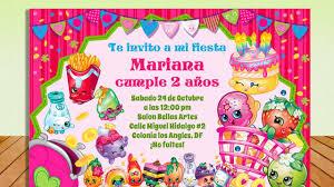 Invitacion Shopkins Gratis Todo Gratis Para Tu Fiesta Youtube