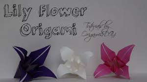 origami lily flower easy and fast