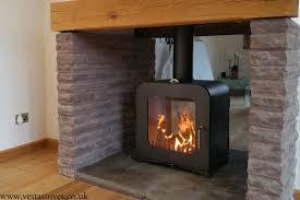 12kw wood burning stove double sided